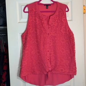 French Laundry lacy tank top